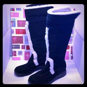 GentlyUsed Aerosoles Women Suede Knee Boots Size:9